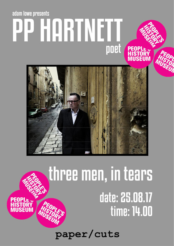 pp hartnett - Manchester - Three Men, in tears